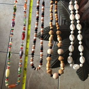 Accessories - Beaded necklaces.